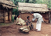 Dr. Sudarshan in a tribal village