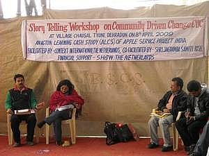 Story Telling Workshop for the Apple Farmers (Courtesy: CDC)
