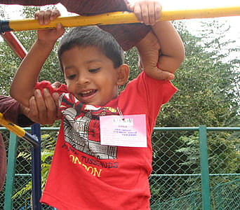 Children at the special play areas