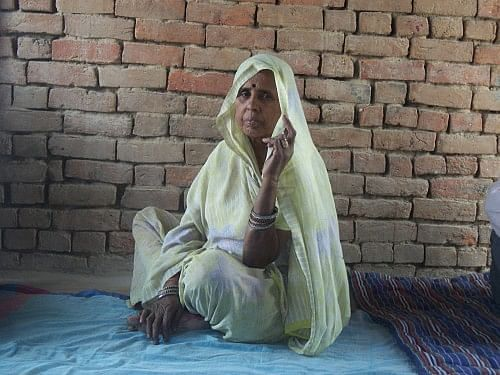 Meet 65-year-old Mula Devi, one of the prime movers behind the sanitation revolution that is now sweeping through Bhimnagar, village in Madhogarh block of Jalaun district, which lies in the neglected region of Bundelkhand, Uttar Pradesh. (Credit: WFS)