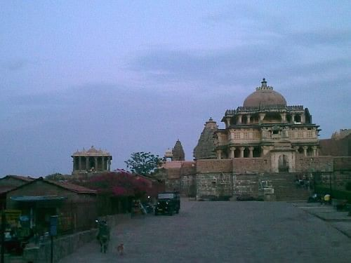 The temples inside the fort