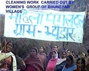 Starting day of Cleaning campaign by women of Bhyundar