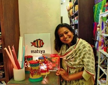 Neha Gandhi was inspired to start Matsya Crafts when she was volunteering to help victims of the 2001 earthquake in Kutch, Gujarat