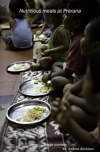 Children are given nutritious meals and all their basic needs are met by Prerana