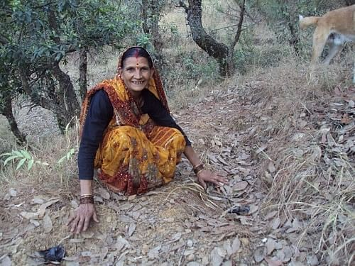 """Sarpanch Sudha Gurwant feels that """"when our van panchayats work well, our forests are healthy and our people are happy."""" (Credit: Prem Chadha\WFS)"""