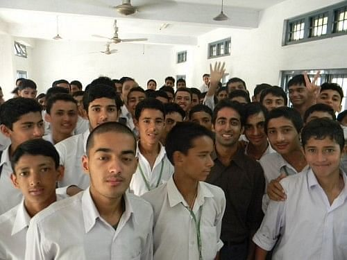 Kshitij with his students