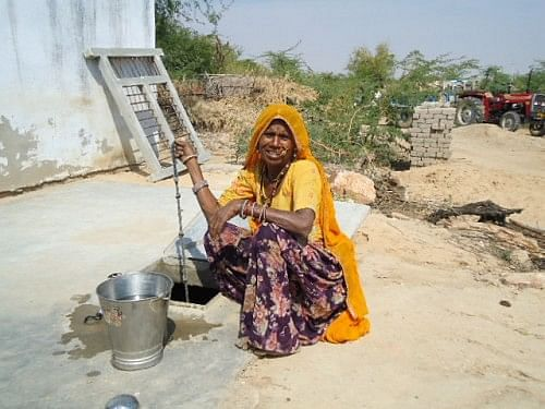 With 'hauds' installed in every house, the women and girls are saved the trouble of trekking long distances for water