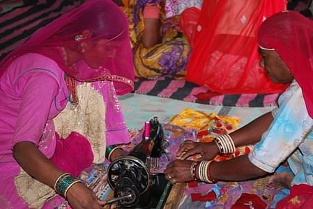 Sambhali Trust makes women self reliant by giving them training in Sewing
