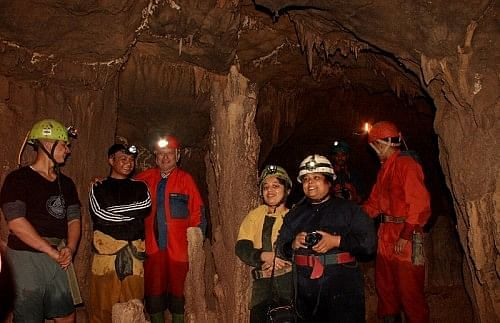 Caving in Meghalaya - one of the attractions of the region