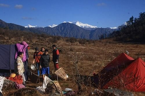 Views from Sukhadhap campsite