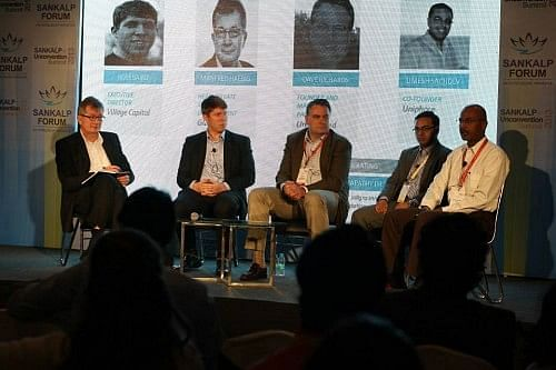 Villgro COO PR Ganapathy moderates a session on Incubating the incubators at the 2013 Summit