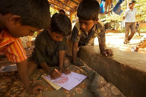 Children at Ananya are taught by conceptual learning and not textbooks