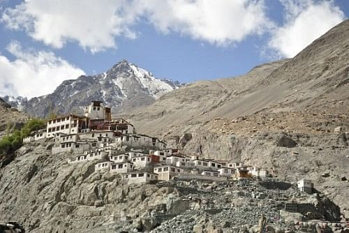 Diskit Monastery, on the way back from Nubra Valley.
