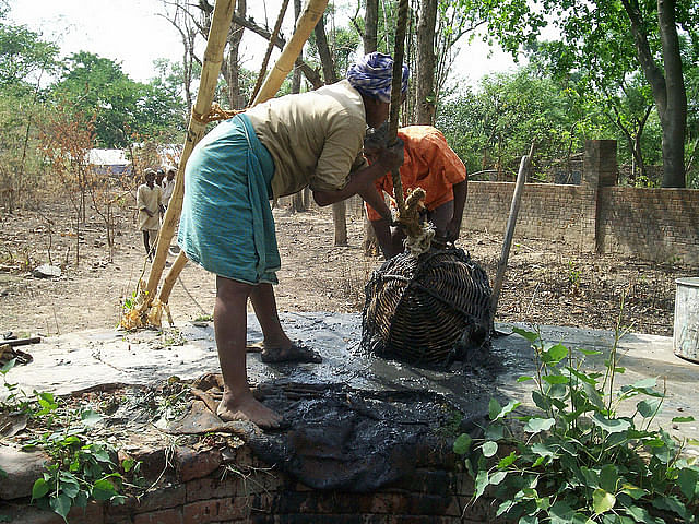 Cleaning of wells in Ballia district