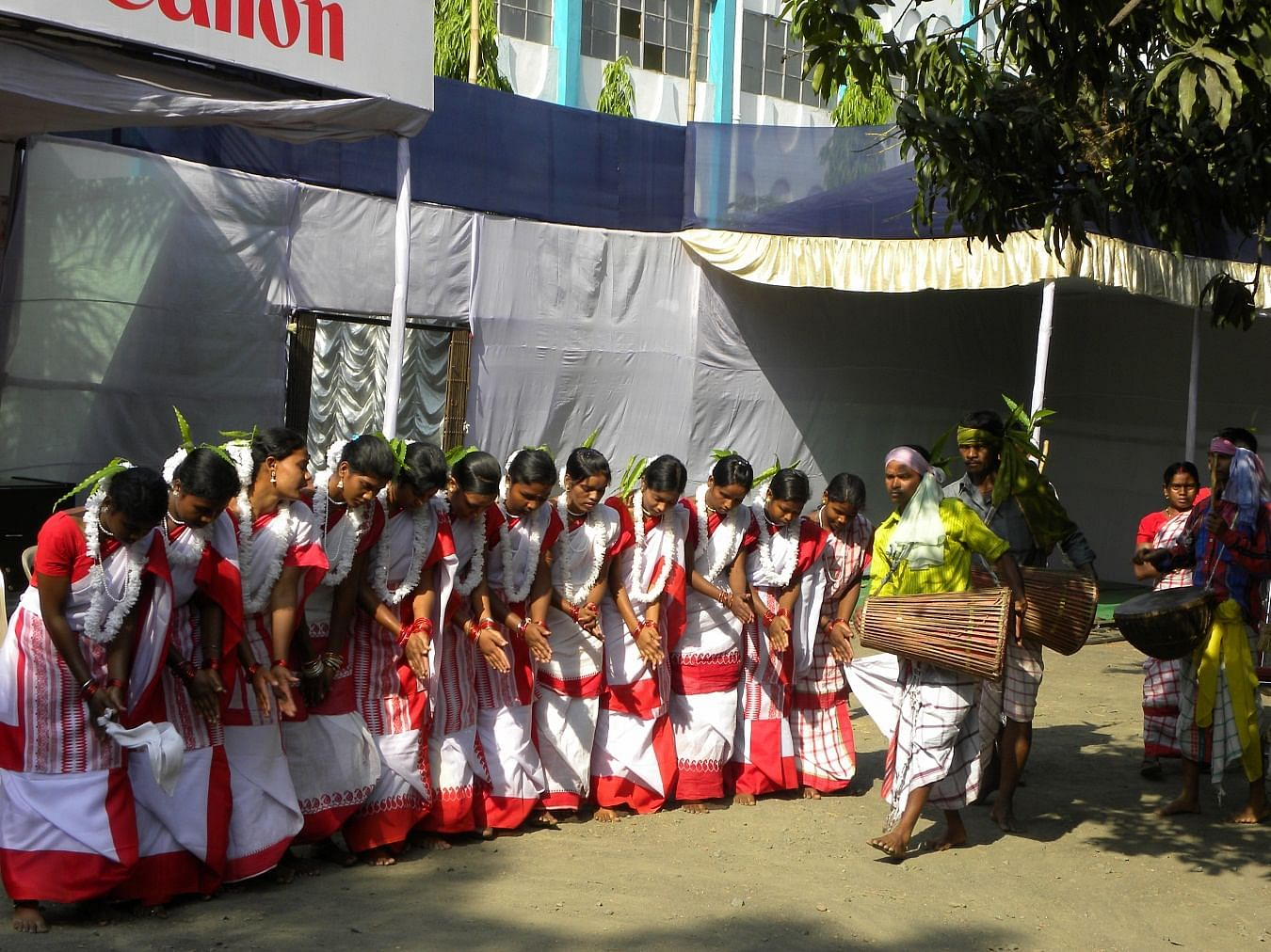The villagers performs at the Asansol Book Fair
