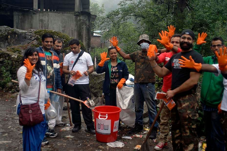 The team organizes various clean up drives in the valley to make the place healthier and better.