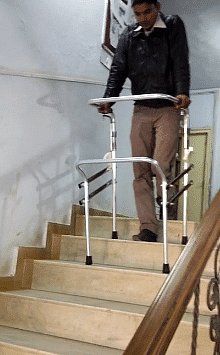 The adjustable walker is ready for sale in the market.