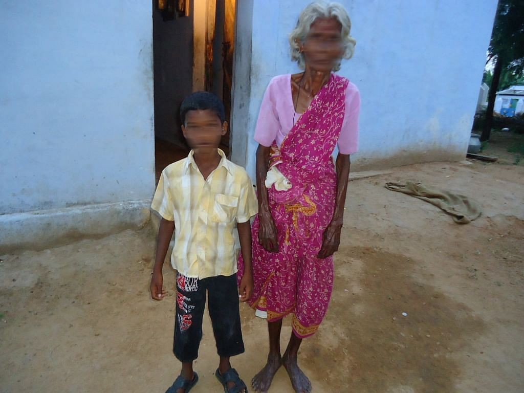 Child with his grandmother.