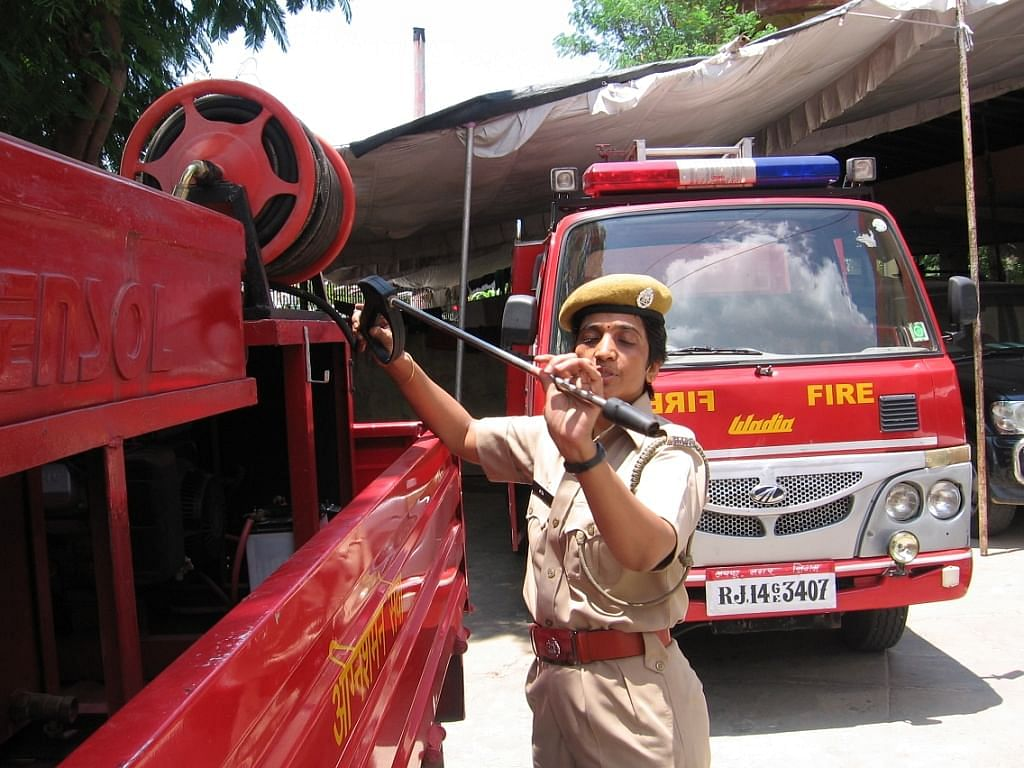 Sita Khatik used to work with a medical insurance company before she decided to join the fire service. (Credit: Abha Sharma\WFS)