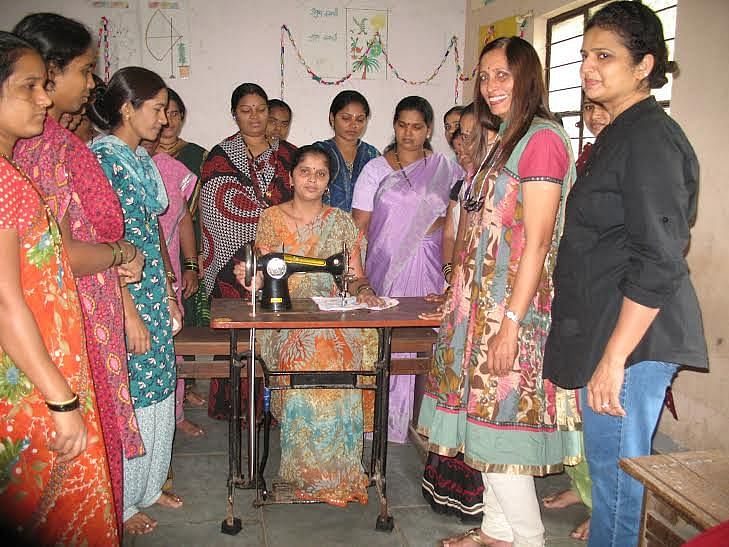 ACT also provided tailoring and beautician courses to the needy women.
