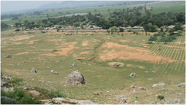Dashrath worked in the fields on the other side of the mountain