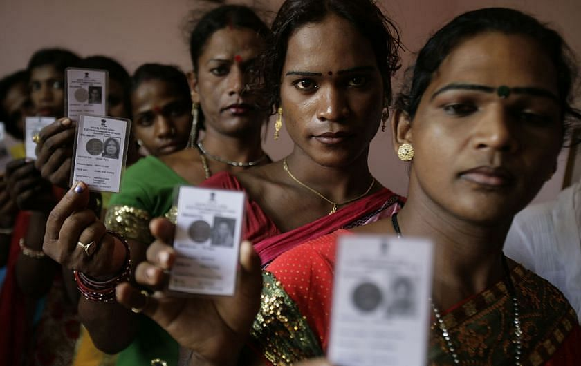 "Transgenders got a legal status as ""third gender"" in 2014."
