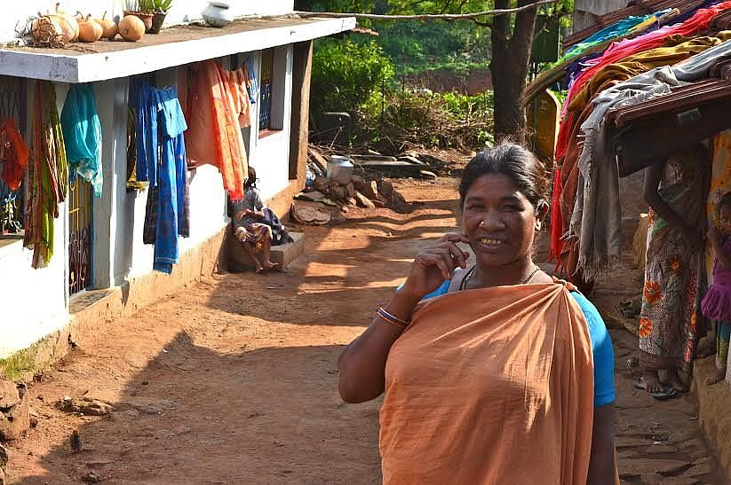 Anganwadi worker Killo Rukmini has been spearheading the meal programme in Champaguga village of Kollaput panchayat. She ensures a nutrient-rich hot meal is served daily at her anganwadi centre. (Credit: Dilnaz Boga\WFS)