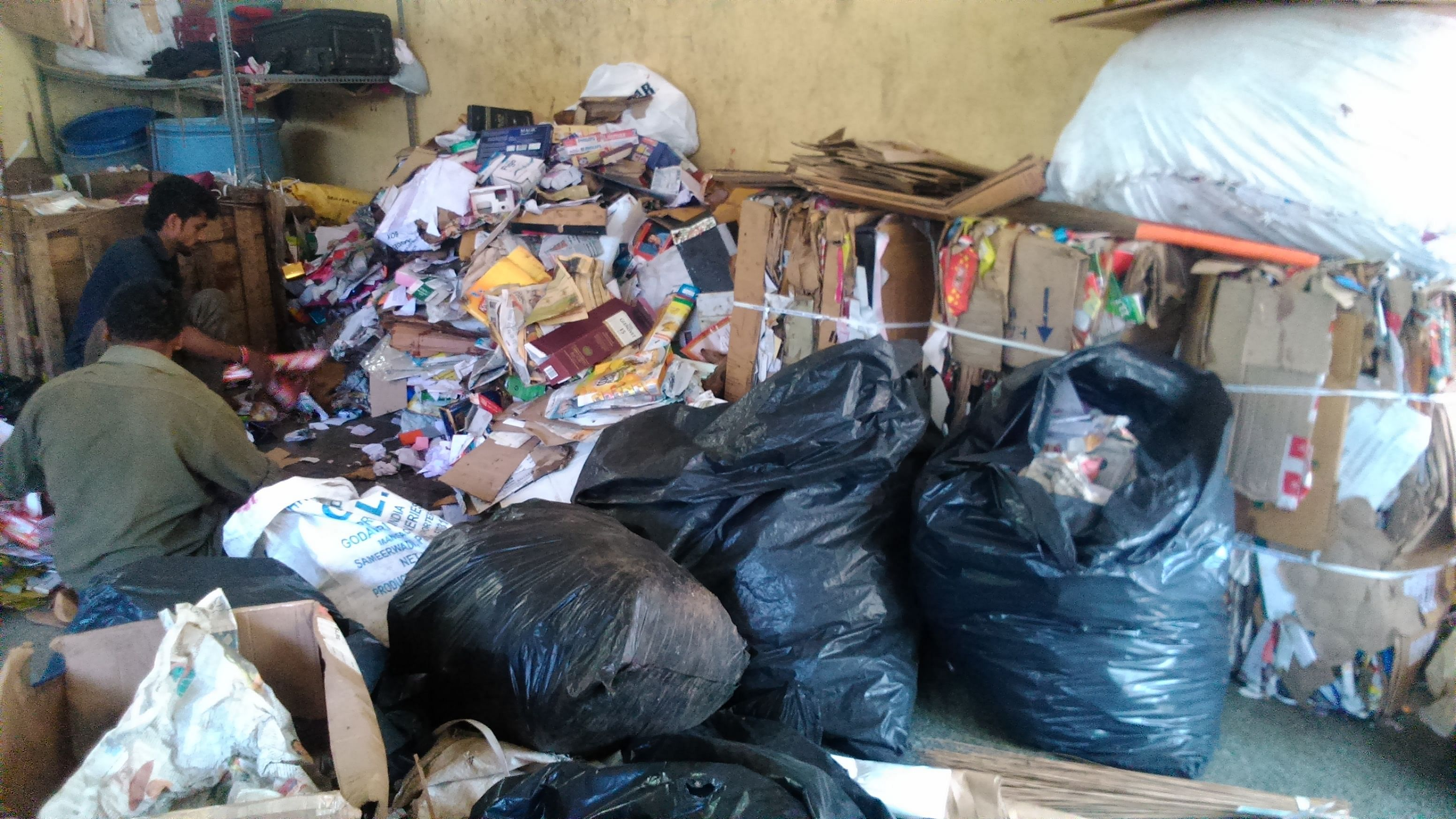 Mansoor has been trying to make waste collection more organised.