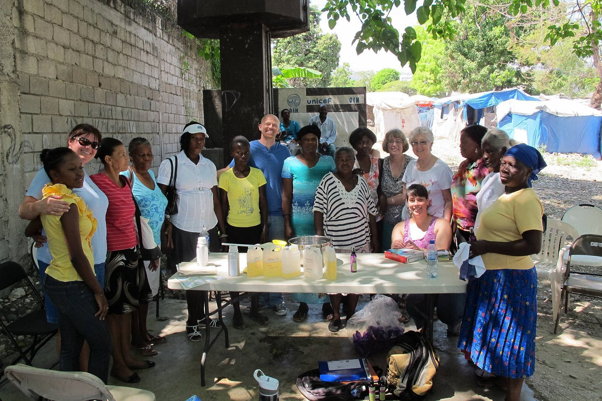 Soap making training to women in Thailand.