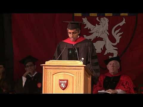 Dr. Vivek Hallegere Murthy addressing Harvard Medical School and Harvard School of Dental Medicine in 2014