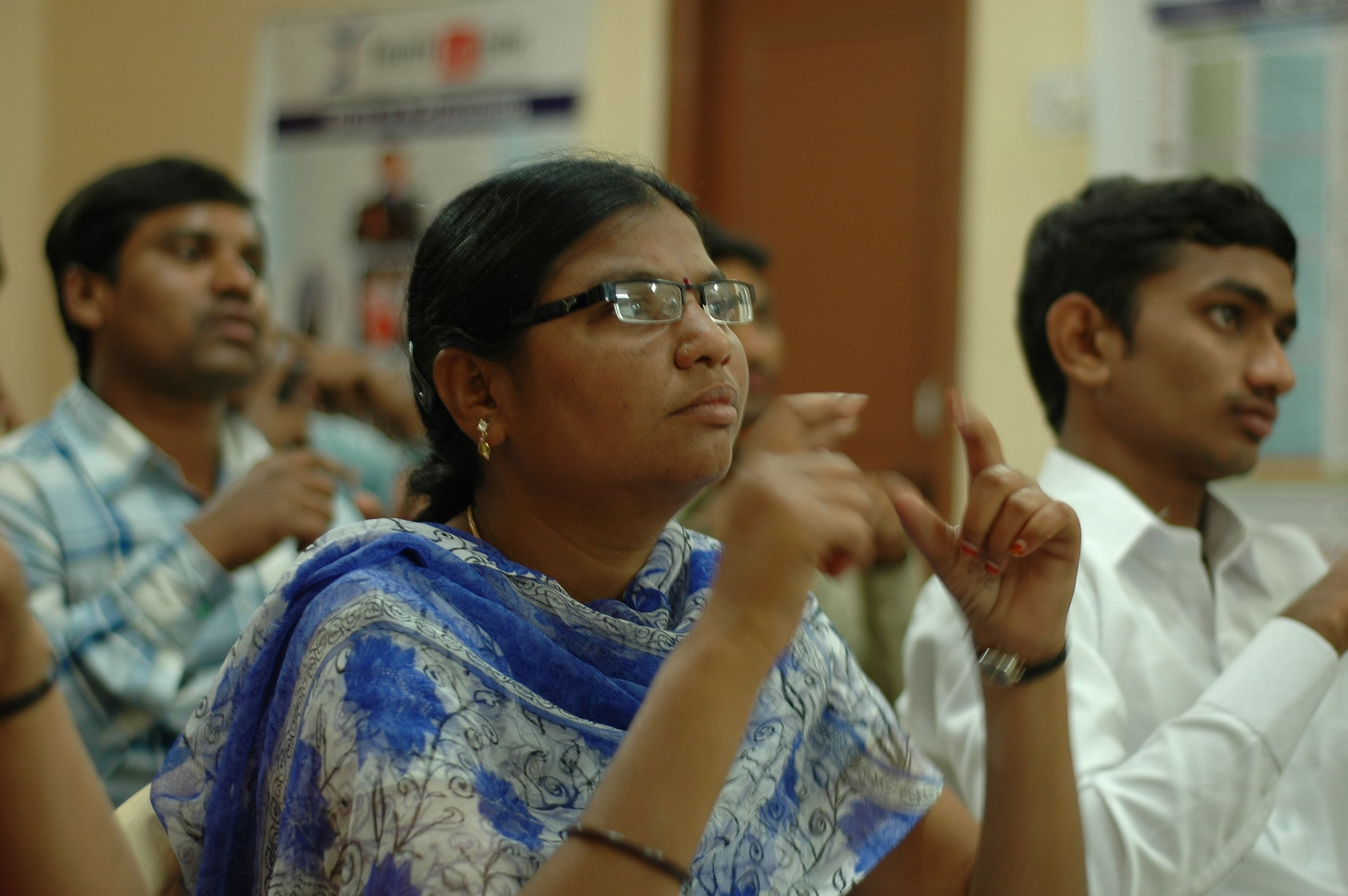 Classroom training for disabled at our training center