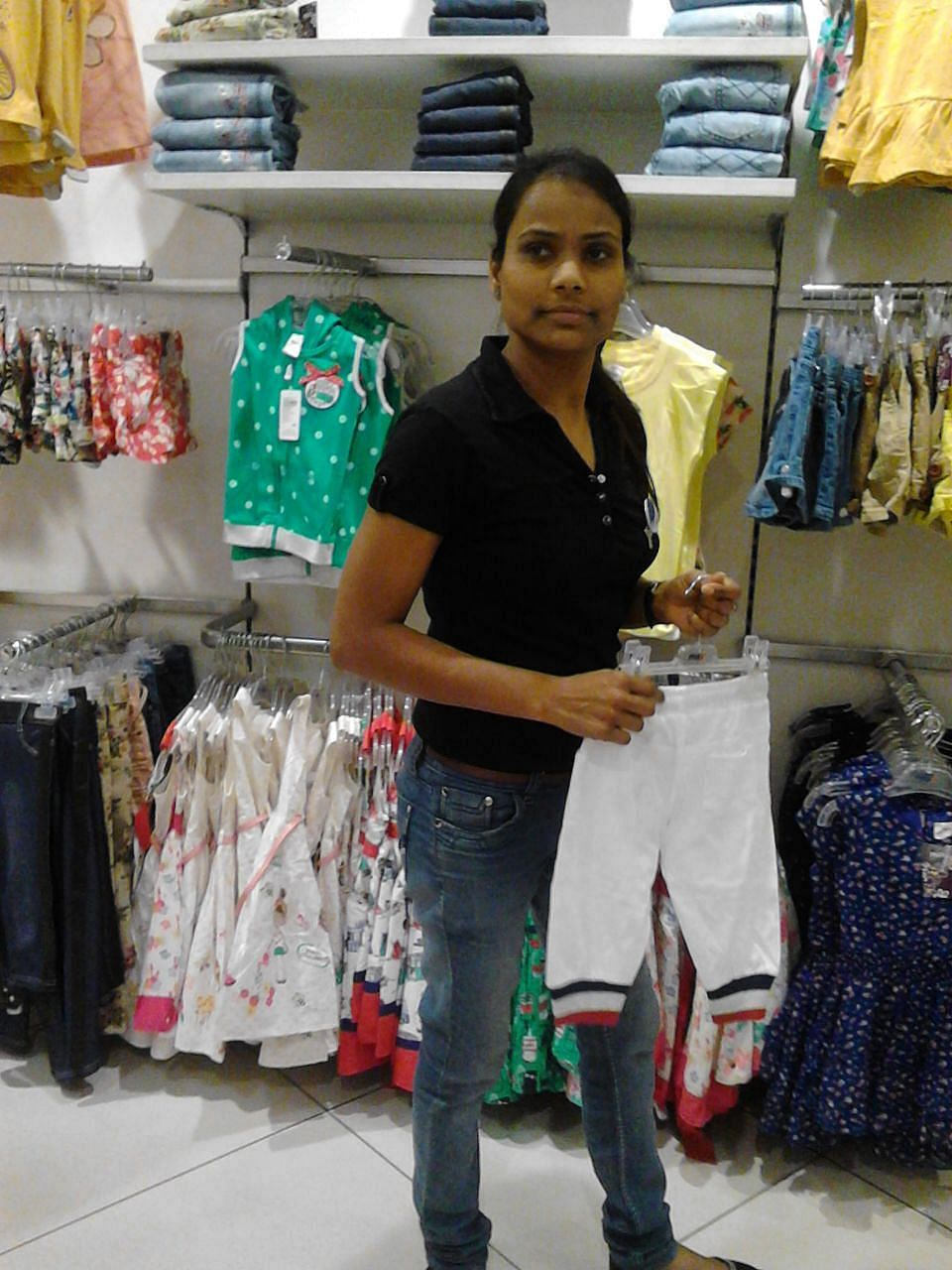 Candidate Kamla - Speech/Hearing impaired girl who has been hired by Max Stores in Jaipur