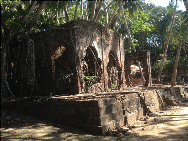 The ruins of Ross island
