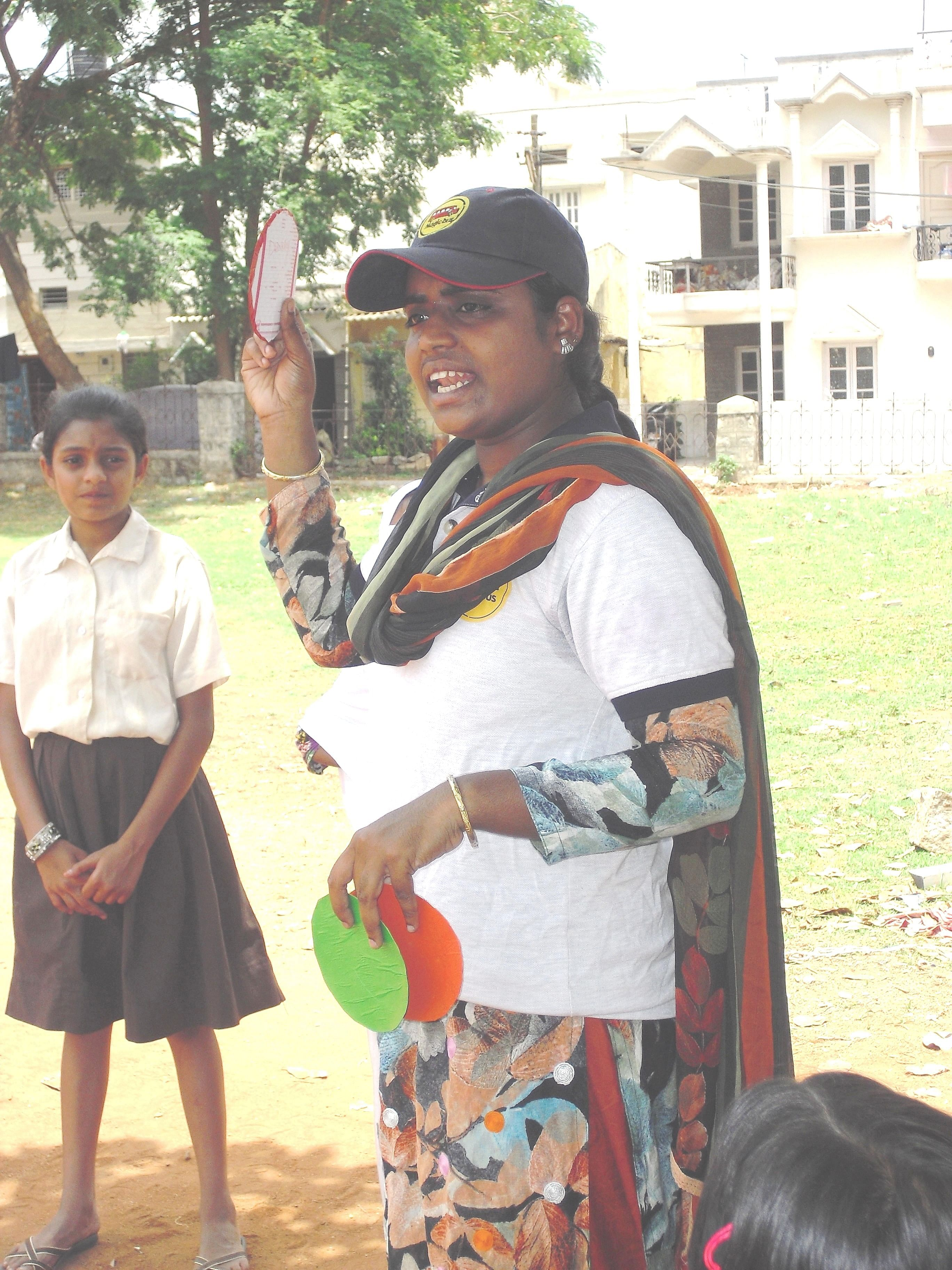 Her work as a youth mentor has not only helped Zaiba gain insights into issues like health, gender and child protection, but also given her the confidence to express herself and effortlessly address a large gathering. (Credit: Roshin Varghese\WFS)