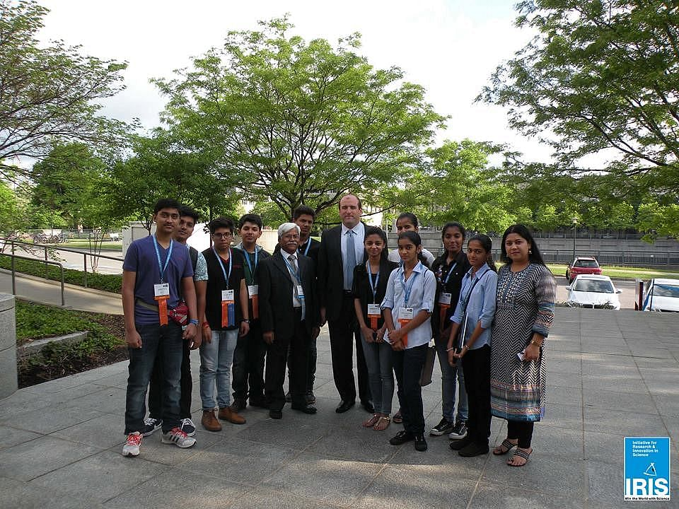 Team India at the 2015 ISEF with Mr. Rick Signer, Former Chief of Staff, White House Office of Science and Technology Policy