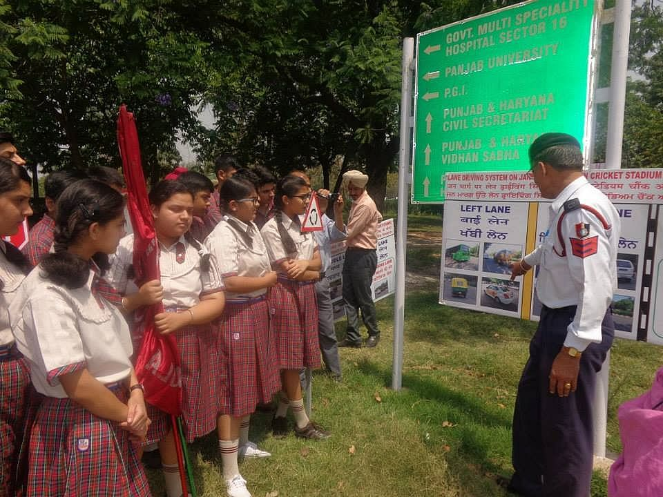 Raising awareness about road safety and traffic rules among children