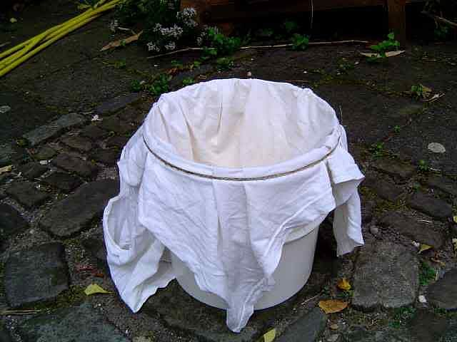 A simple cotton cloth, folded over a few times, acts as an effective filter of particulate matter.