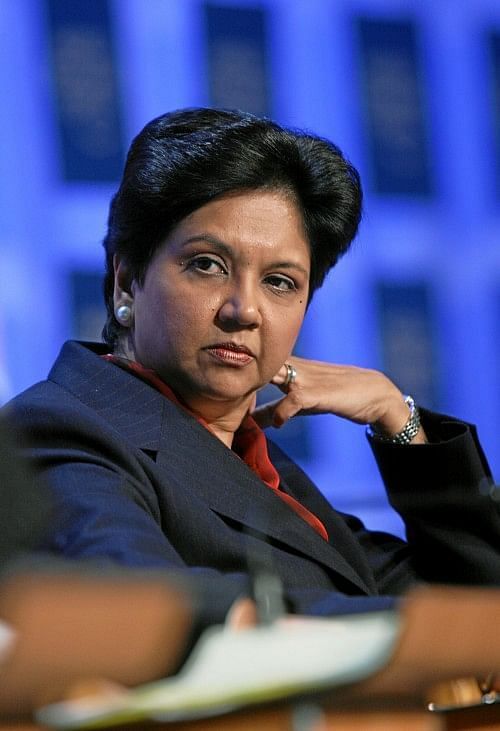 DAVOS/SWITZERLAND, 25JAN08 - Indra K. Nooyi, Chairman and Chief Executive Officer, PepsiCo, USA; Co-Chair of the World Economic Forum Annual Meeting 2008, captured during the session 'Corporate Global Citizenship in the 21st Century' at the Annual Meeting 2008 of the World Economic Forum in Davos, Switzerland, January 25, 2008. Copyright by World Economic Forum    swiss-image.ch/Photo by Andy Mettler +++No resale, no archive+++