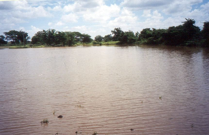 The watershed filled to capacity.