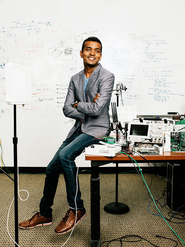 Shyam Gollakota has a B.Tech from IIT Chennai, Madras, and an M.S and PhD from MIT.