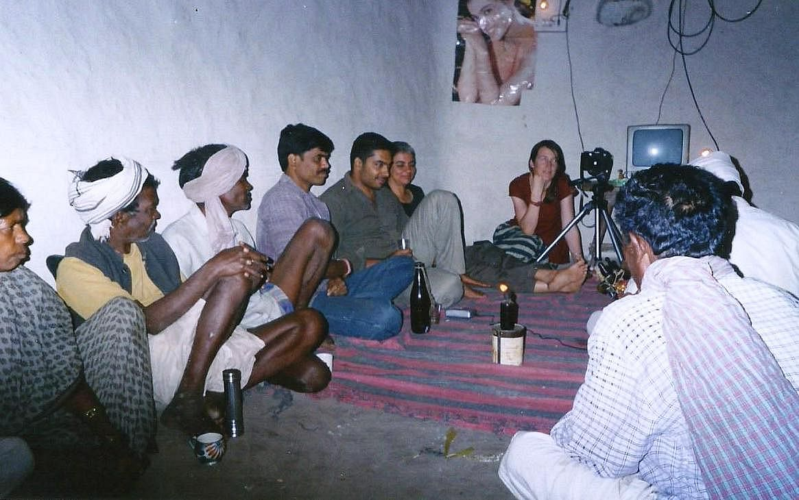 Bhajju amongst his community members in Patangarh