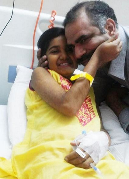 Abeeha, with her father Mr. Hamid Imran