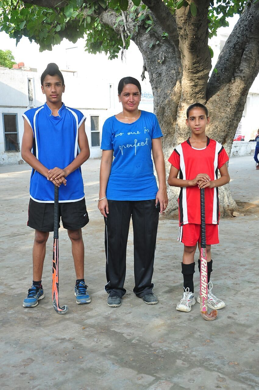 Coach Baljeet Kaur with her Proteges