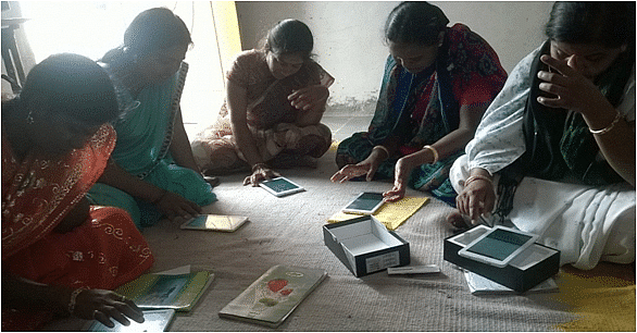 Using tablets, the sakhis record medical history of the women and then give them expert reports and feedback at doorstep.