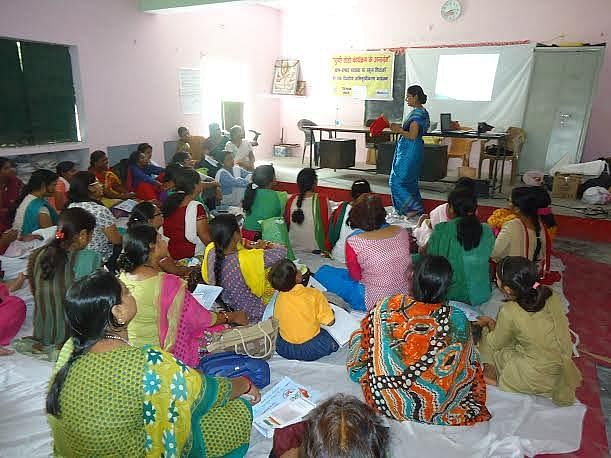 Across Uttar Pradesh, many teachers are being trained to break the silence and stigma surrounding menstruation in an effort to ensure that they are able to spread awareness among their students about it. (Credit: Alka Pande\WFS)