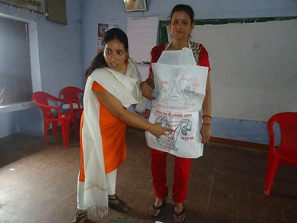 In Uttar Pradesh, many NGOs and the state government are adopting measures to enable girls and women to break out of the vicious cycle of apprehension, misinformation and taboos attached with menstruation. (Credit: Alka Pande\WFS)
