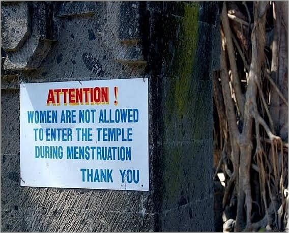 Misconceptions such as menstruating women are unclean or impure and, therefore, should not step inside a temple lest its sanctity is compromised, fills them with feelings of being lesser humans. (Credit: Alka Pande\WFS)