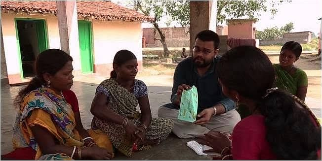 About 2 million girls, between the age group of 10 and 19 years, are to be benefitted with the distribution of low cost sanitary napkins that are being made available to all girls studying in Class Six to Class 12 in government-run schools in UP. (Credit: Alka Pande\WFS)