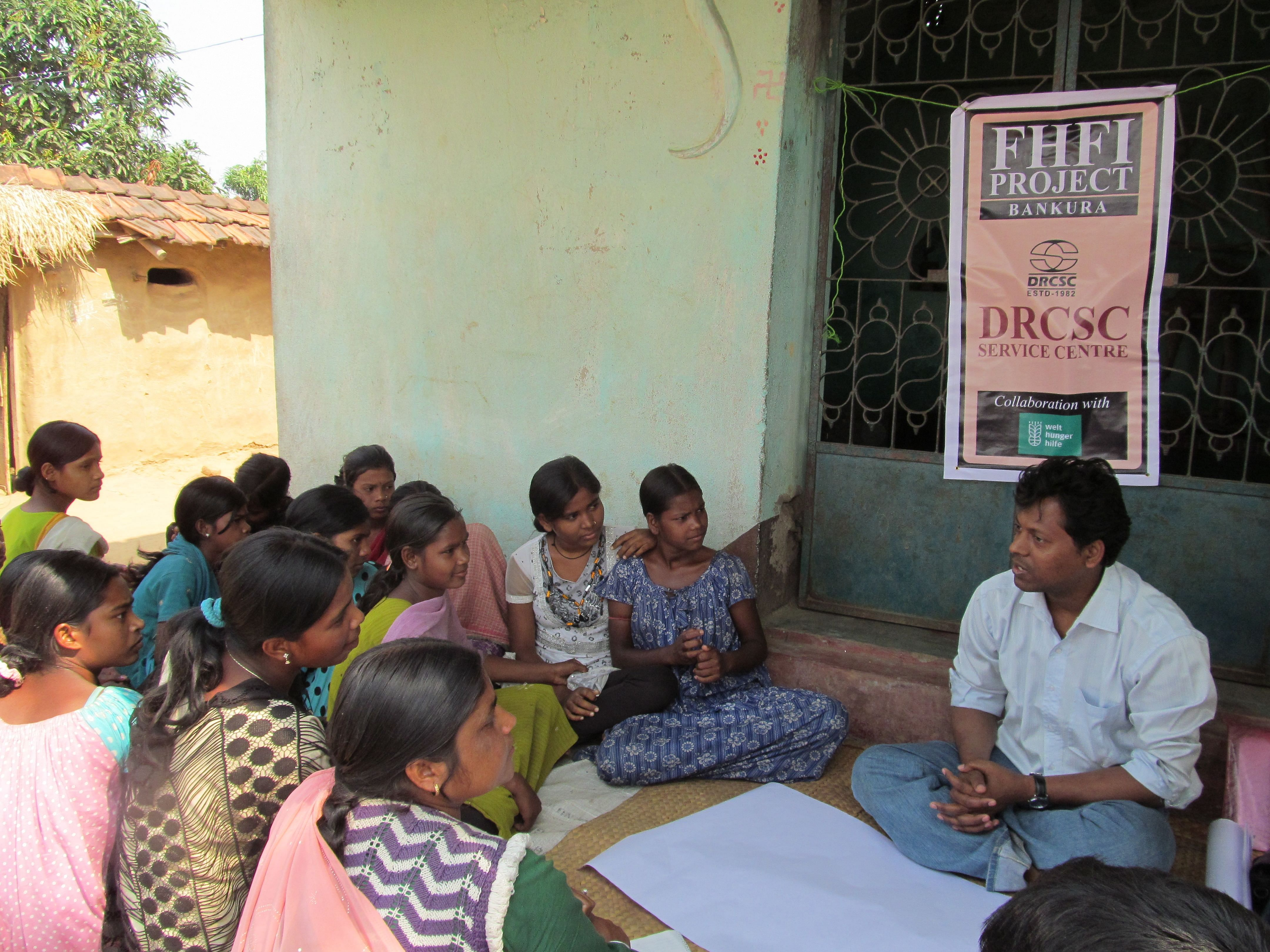 Youngsters in 32 villages of Ghoshergram and Jhunjkagram panchayats in Bankura district of West Bengal have formed groups that spread awareness on issues related to health, education and development. (Credit: DRCSC\WFS)