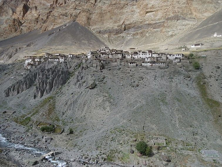Centuries old village called Fotoksar, 8 hours away from Leh. No electricity or mobile connectivity here. Altitude 11348 ft. No. of Children - 46